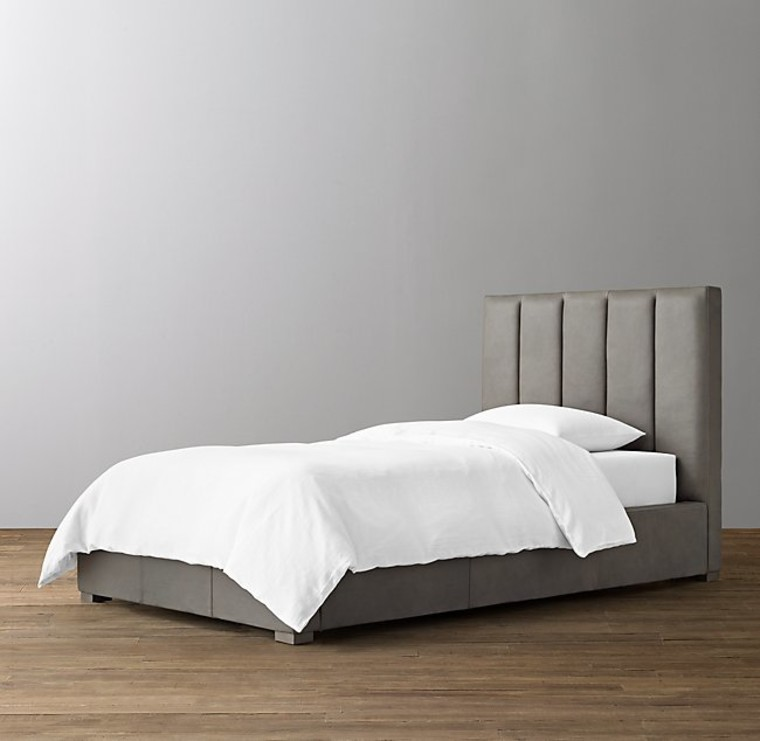 CARVER LEATHER BED