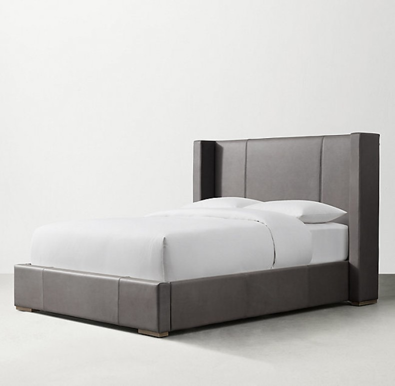 RONSON LEATHER BED