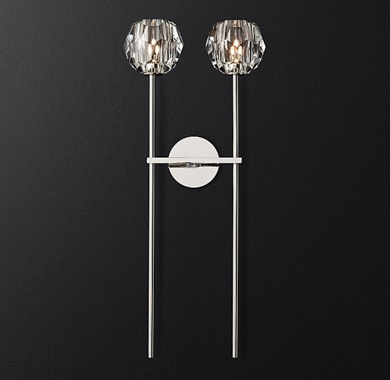 GRANDE SCONCE NICKEL