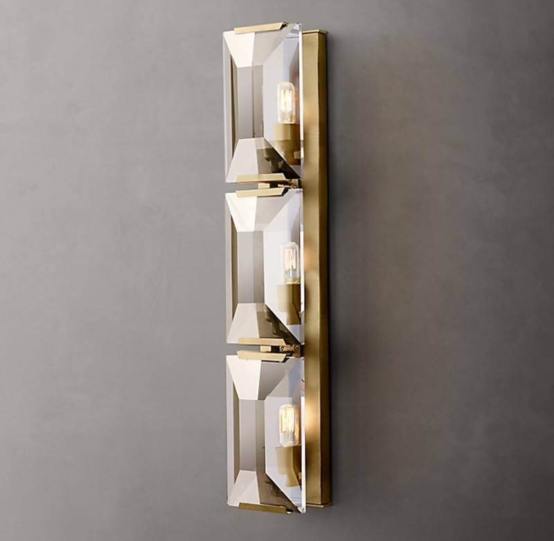 HARLOW CRYSTAL TRIPLE SCONCE