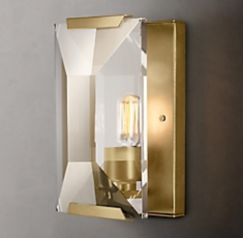 HARLOW CRYSTAL SCONCE GOLD