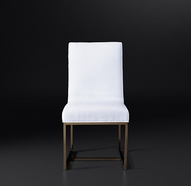 GRANT FABRIC SIDE CHAIR BURNISHED