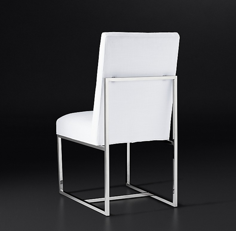 GRANT FABRIC SIDE CHAIR POLISHED