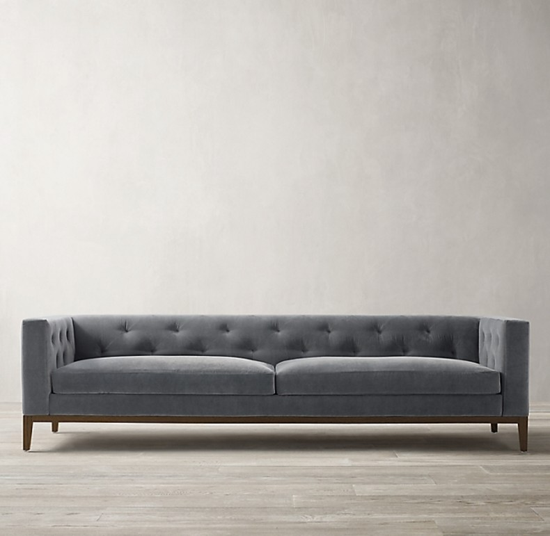 ITALIA TUFTED SHELTER ARM SOFA