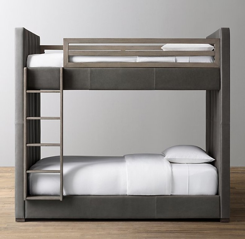 CARVER LEATHER BUNK BED